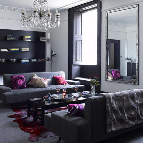 black-white-and-gray-living-room-with-purple-accents