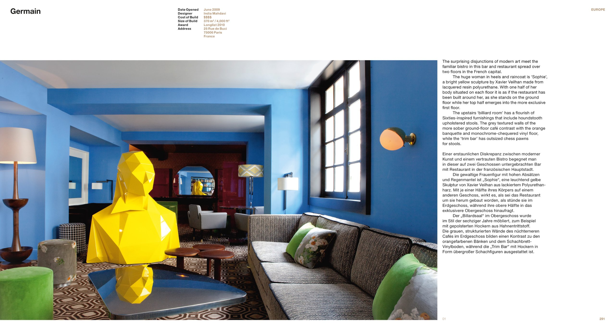 Germain In Paris France Opened 2009 Award Long List 2010 Design India Mahdavi
