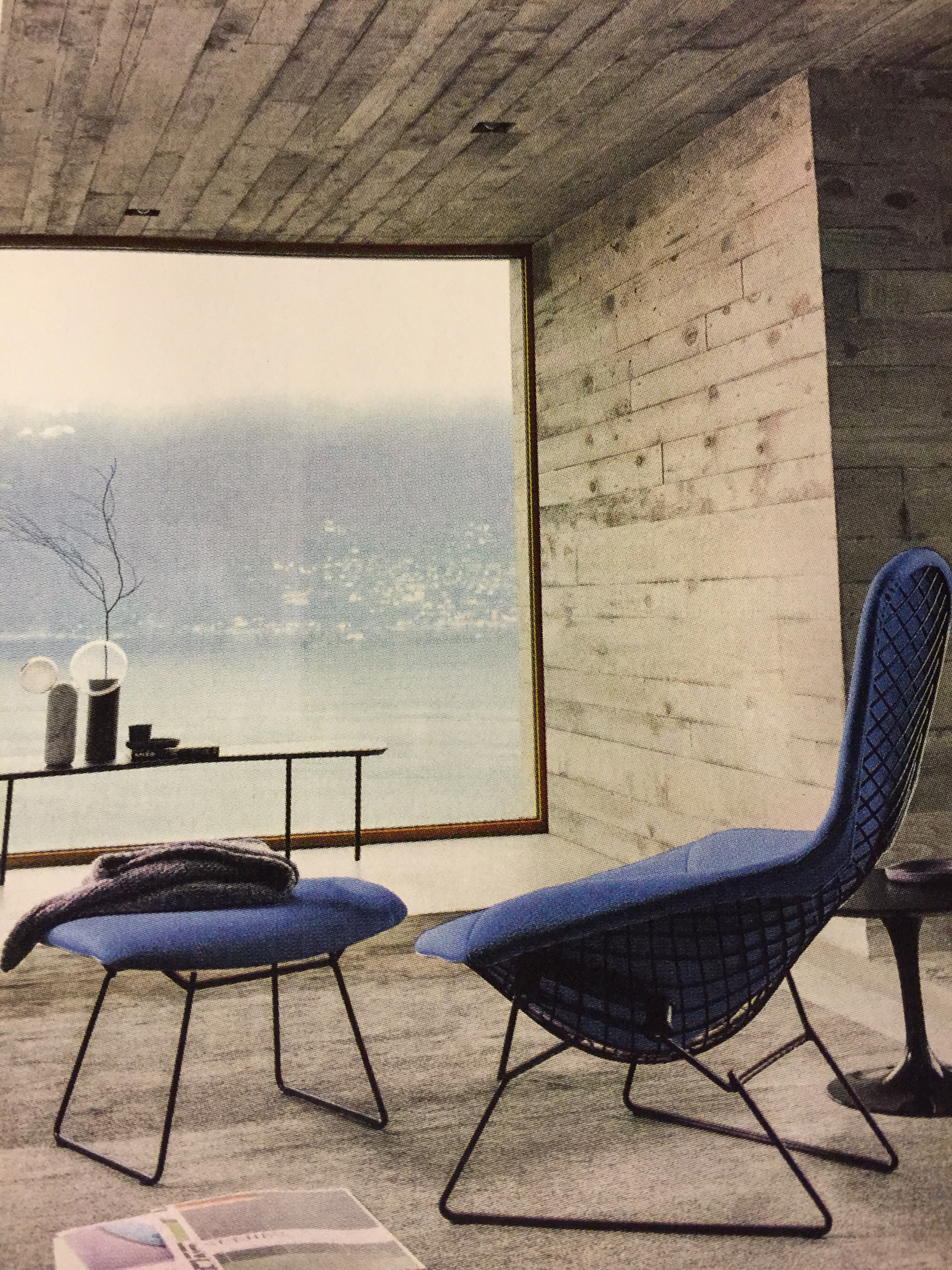 Weekend Envy Bertoia Bird Armchair Darkroom Bright
