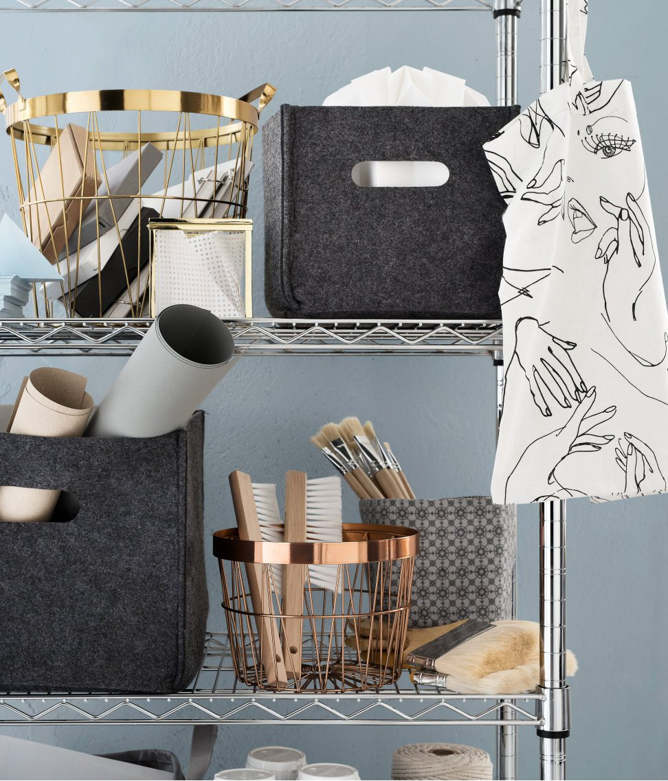 metal basket by h&m . source: making spaces